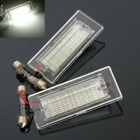 2x 18 LED Number License Plate Light Bulb White Lamp For BMW X5 E53 X3 E8