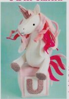 PATTERN - U is for Unicorn - cute softie/toy PATTERN - Ric Rac