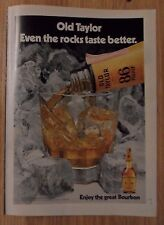 1973 Print Ad Old Taylor 86 Proof Whiskey ~ Even the Rocks Taste Better