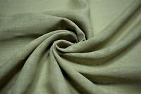 "Green Drapery 100% Linen Fabricut Clifton Raw Hemp Fabric Upholstery 54""W FC15"