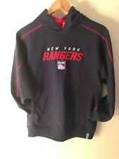 NWT NHL REEBOK NEW YORK RANGERS HOODED SWEATSHIRT YOUTH SIZE L 14/16