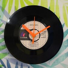 "Anita Ward 'Ring My Bell' Retro Chic 7"" Vinyl Record Wall Clock"