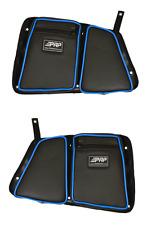 PRP Seats Black/Blue Vinyl Rear Stock Door Bag Knee Pad Polaris RZR XP 4 1000