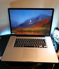 """APPLE MacBook Pro A1297 17"""" Mid 2009 6GB RAM 750GB HDD dual nvidia"""