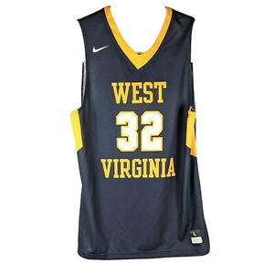 West Virginia Mountaineers Womens Basketball Jersey Large Blue Nike Throwback 32