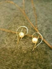 (1 PAIR AVAILABLE!) HANDMADE! Genuine Pearl Earrings 20056
