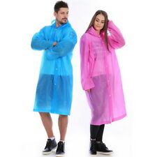 Unisex Portable Transparent Raincoat Rainwear Camping Hooded Ponchos Rain Cover