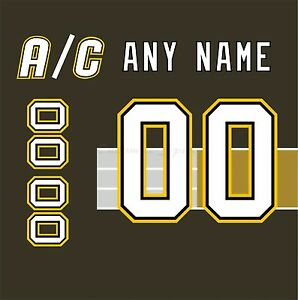 Pittsburgh Penguins 1997-2002 Black Jersey Customized Number Kit un-stitched
