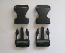 2 x 25mm Plastic Side Quick Release Clasp Buckles Webbing Strapping Bag Making