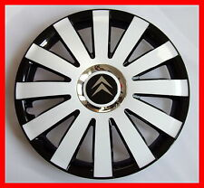 "4x13"" Wheel trims for Citroen  - full set black / white 13"""