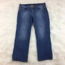 Lucky Brand Sweet N Low Summer Crop Med Wash Lightly Distressed Jeans Sz 8/29