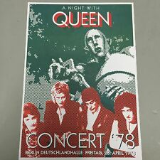 QUEEN - CONCERT POSTER BERLIN GERMANY 1978 (A3 SIZE)