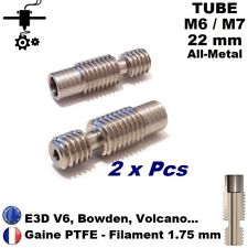 2x Tube M6/M7x22 sans PTFE Extrudeur V6 All Metal Heatbreak 1.75mm Imprimante 3D
