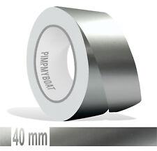 ZIERSTREIFEN 40mm SILBER METALLIC GLANZ 10m Auto silver Stripe Boot 4 cm Dekor