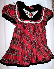 Size 6-9 Month Beautiful Red Checkered Christmas Dress