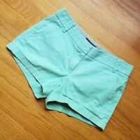 J.Crew CHINO Low Waist Shorts pastel Aqua Blue PREPPY 100% Cotton sz XS - S