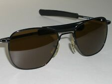 7cf7124fa59 52  20 140 AMERICAN OPTICAL BLACK ORIGINAL PILOT B15 BROWN CRYSTAL  SUNGLASSES