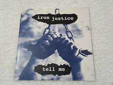 """IRON JUSTICE Tell Me 7"""" Cold Meat Industry Persona Brighter Death Now IRM"""
