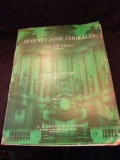 Partition Seventy Nine Chorales for the organ Marcel dupré Music Sheet