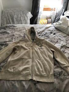 American Eagle full zip hoodie xl cream men