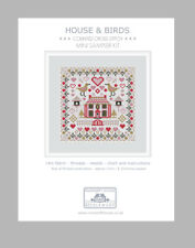MINI HOUSE & BIRDS COUNTED CROSS STITCH KIT by RIVERDRIFT HOUSE