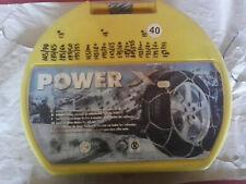 CATENE DA NEVE POWER X GRUPPO 40 OMOLOGATE 9mm DA 165 70-13 A 9ea2ffbd07e7