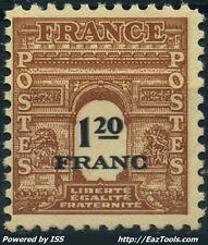 FRANCE ARC DE TRIOMPHE N° 707 IMPRESSION DOUBLE NEUF ** SANS CHARNIERE