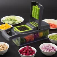 8 In1 Food Vegetable Salad Fruit Peeler Cutter Slicer Dicer Chopper Kitchen Tool