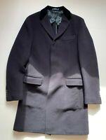 Polo Ralph Lauren Navy Blue 3 Button Morgan Wool Overcoat - 40R