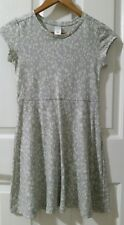 GIRLS size 12 Grey White Animal Leopard Print Knit Skater Dress TARGET