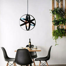 Retro Industrial Vintage Hanging Iron Ceiling Lamp Pendant Light Fixture Bedroom