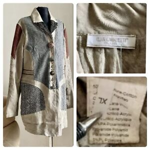 ELISA CAVALETTI CLUB Cardigan  combined Size XL with buttons with long sleeves