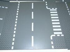 Lego 44341 1 x Platte street Grigio scuro Incrocio a T incrocio 32 x 32 Bottoni