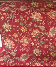"""BURGUNDY BACKGROUND WITH BRIGHT COLORED FLOWERS WALLPAPER 27"""" WIDE"""