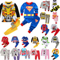Kids Boys Girls Cartoon Sleepwear Nightwear Pj's Pyjamas Outfits Clothes Pajamas