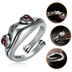 Frog Ring Women Men Unisex Silver Vintage Creative Personality Ring Jewelry New
