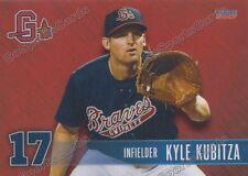 2017 Gwinnett Braves Kyle Kubitza RC Rookie Atlanta Braves