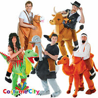 Adults Mens Deluxe Step-In Ride On Animal Stag Night Party Fancy Dress Costume