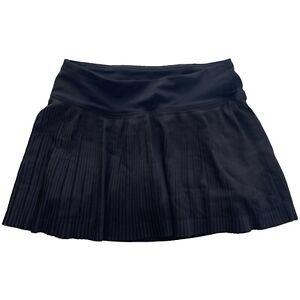 Lululemon Pleat To Street Skirt Black Skort Tennis Running Golf Size 2