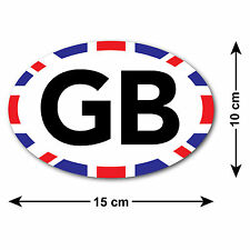GB Car Sticker with Union Jack Edge - For UK / British Cars Travelling Abroad