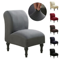 Slipper Chair Slipcovers Stretch Armless Chair Cover Protector Modern Home Decor