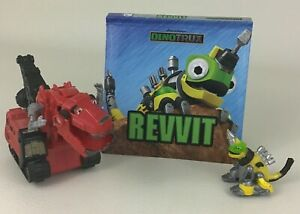 Dinotrux Revvit Pop Up Book Revvit & Ty Rux Figures Figure Netflix 2015 Mattel