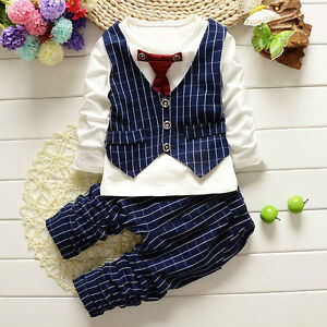 Baby Little Boy Tops + Pants Clothes Kids Boys Clothing Suit Outfits Sets
