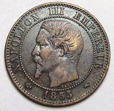 NAPOLEON III - 2 Centimes - 1855 A - Ancre -