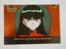 Abra and the Psychic Showdown Foil 2000 Topps Pokemon Series 2 Episode Card EP21
