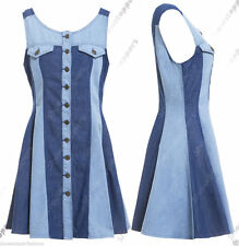 Denim Mini Casual Sleeveless Dresses for Women