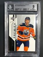 2018-19 UD Premier Connor McDavid /199 Graded BGS 9