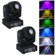 2x 50W RGBW DMX LED Gobo Spot Moving Head Bühnenbeleuchtung Lichteffekt DJ Disco