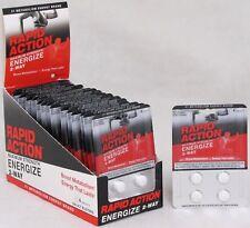 Rapid Action Energize 2 Way Lasting Energy Boost Metabolism 24 Packs 96 Pills
