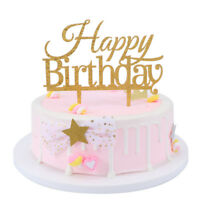 Happy Birthday Acrylic Cake Topper Decorating Supplies Cakes Glitter Decor